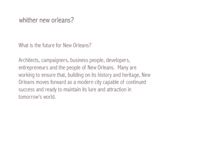 whither new orleans?
